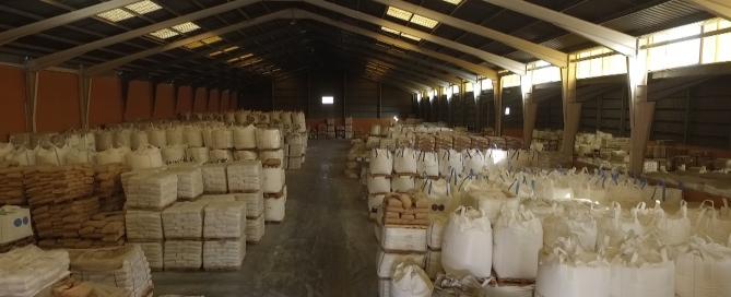 Interior almacén de Quimialmel, S.A.