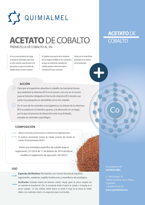 Ficha producto Acetato de Cobalto
