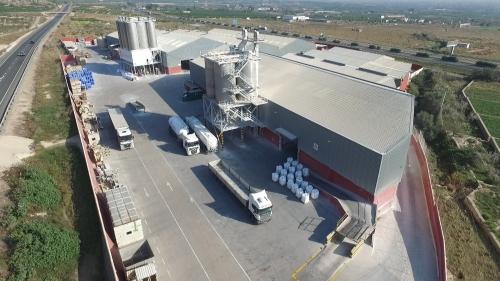 Vista aérea de Quimialmel, S.A. en Castellón (España), empresa matriz de Quimialmel Grupo