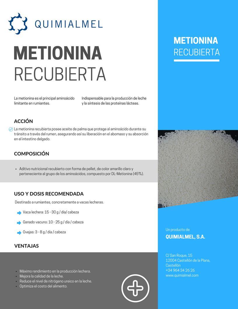 Metionina recubierta maximiza la producción lechera