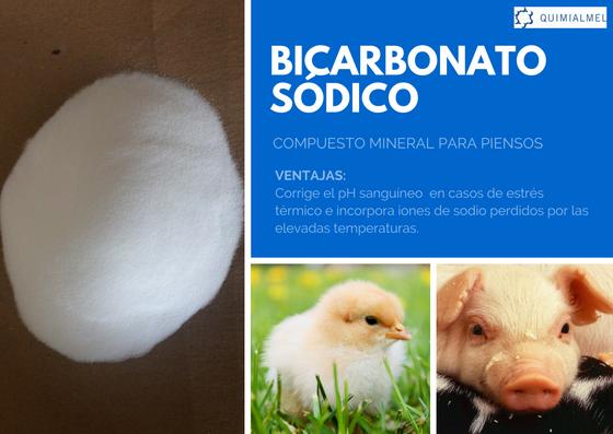 Bicarbonato sódico destinado a todas las especies animales