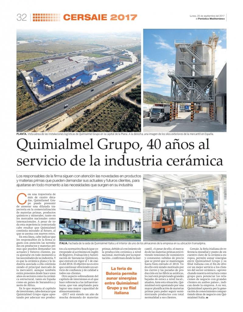 Quimialmel Grupo en Cersaie 2017