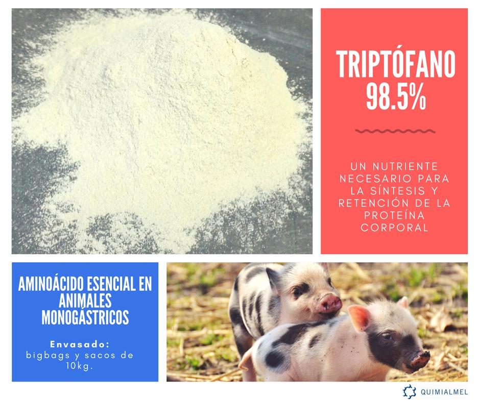 El triptófano un aminoácido esencial en dietas para animales monogástricos