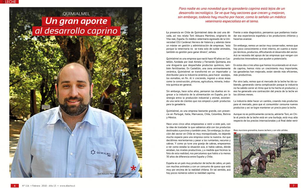 El desarrollo del sector caprino lechero en Chile a través de Quimialmel