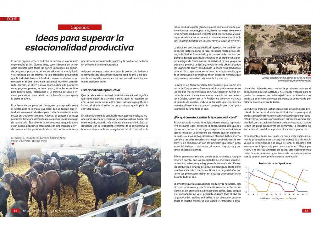 Quimialmel Chile desvela las herramientas para luchar contra la estacionalidad en el ganado caprino lechero