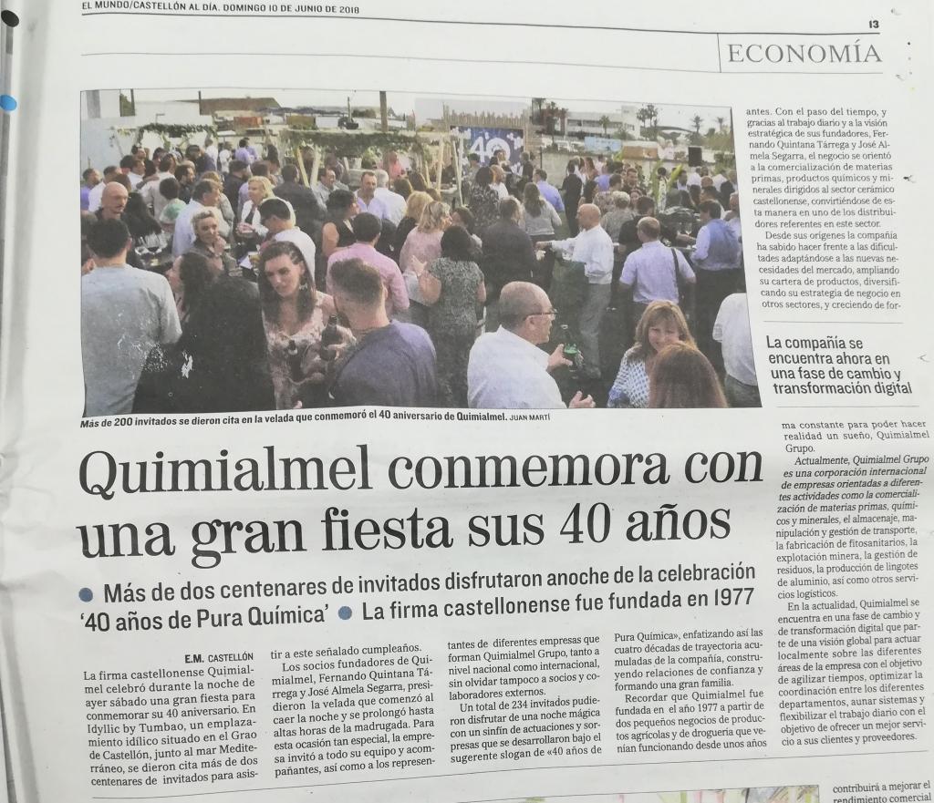 Aniversario 40 años de Quimialmel
