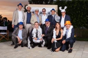 Empleados de Quimialmel Italia posando en el photocall de su 20ª Aniversario